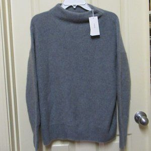 Vince Women's 100% Cashmere Funnel Neck Pullover Sweater XS Heathered  NWT